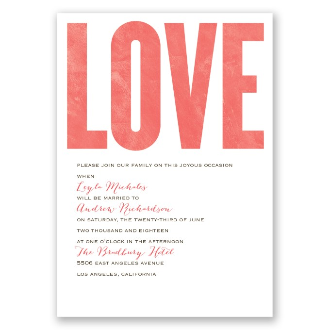 love wedding invitations - where to buy affordable wedding invitations