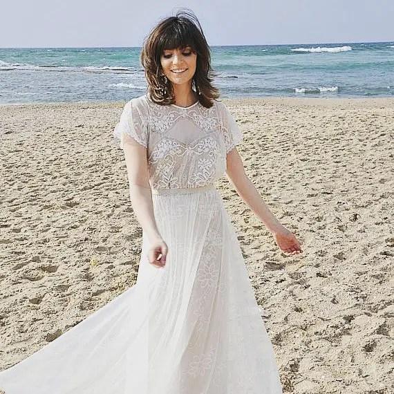 Beautiful Bohemian Beachready  The barzelai boho wedding dress collectionhellip