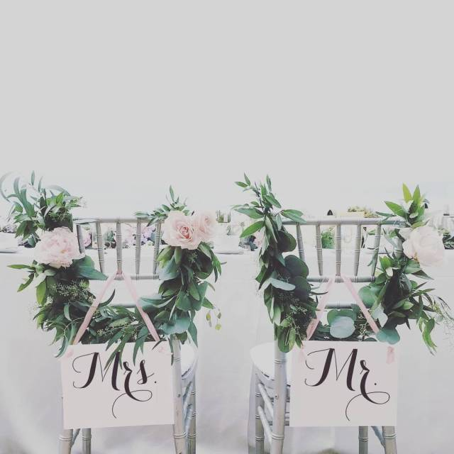 The cutest chair signs for your sweetheart or head table!hellip