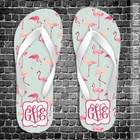 flamingo flip flops by zbasement
