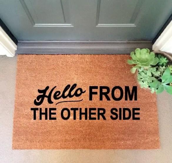 cute doormats | hello from the other side doormat #adele