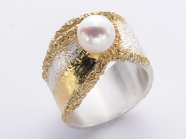 pearl rings south diamond ring sea white aa and