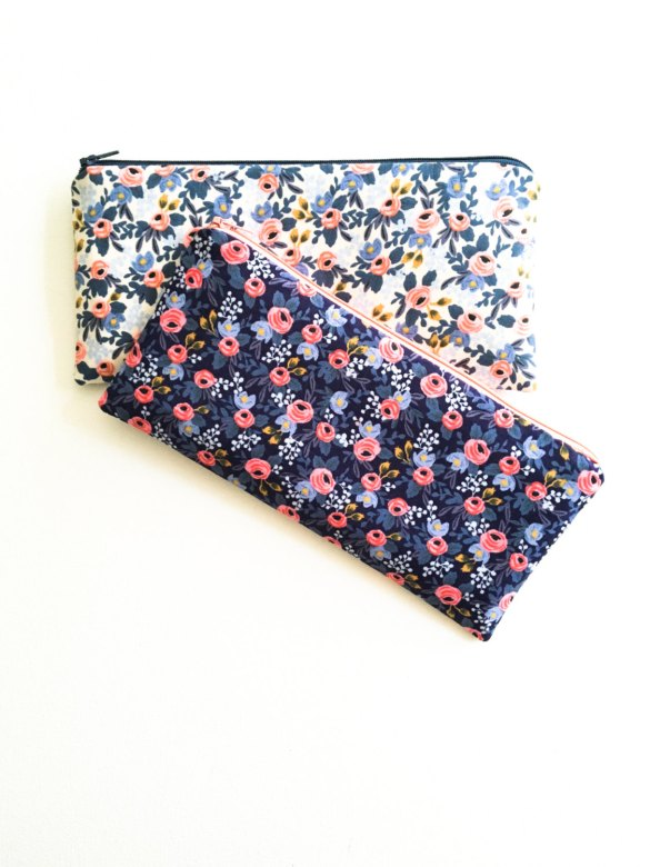Bridesmaid Cosmetic Bags — Handmade-a-Day