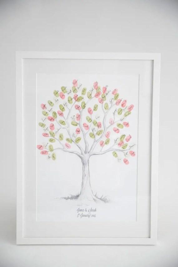 fingerprint guest book tree