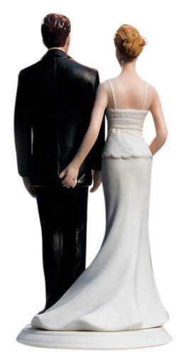 unique wedding cake toppers - funny love pinch cake topper