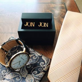 custom cufflinks for the groom - gregson & buck