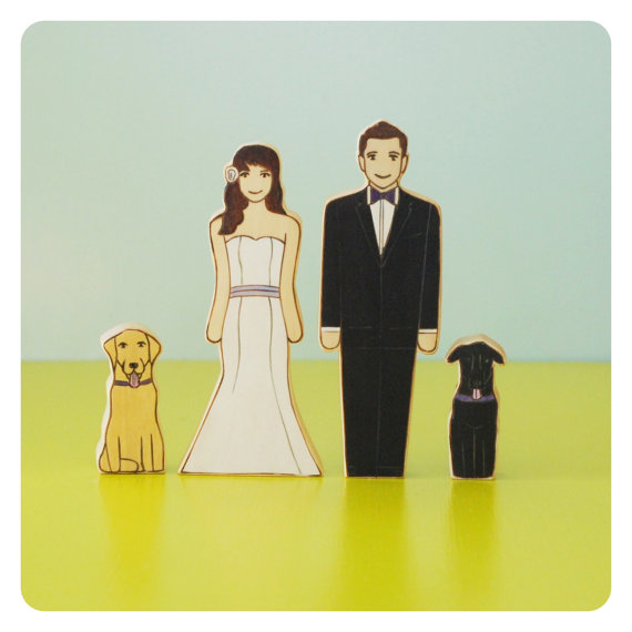 14 Fun Wedding Cake Toppers with Dogs - BridalPulse
