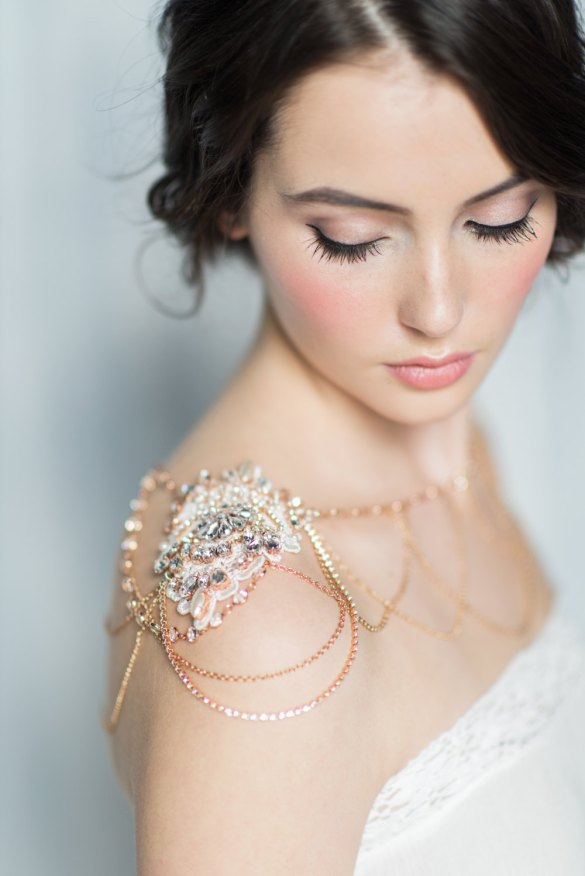 shoulder jewelry bridal