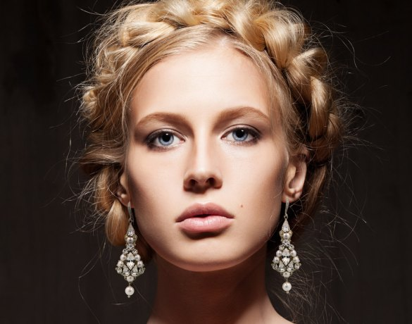 bridal chandelier earrings with pearls by tigerlilly couture