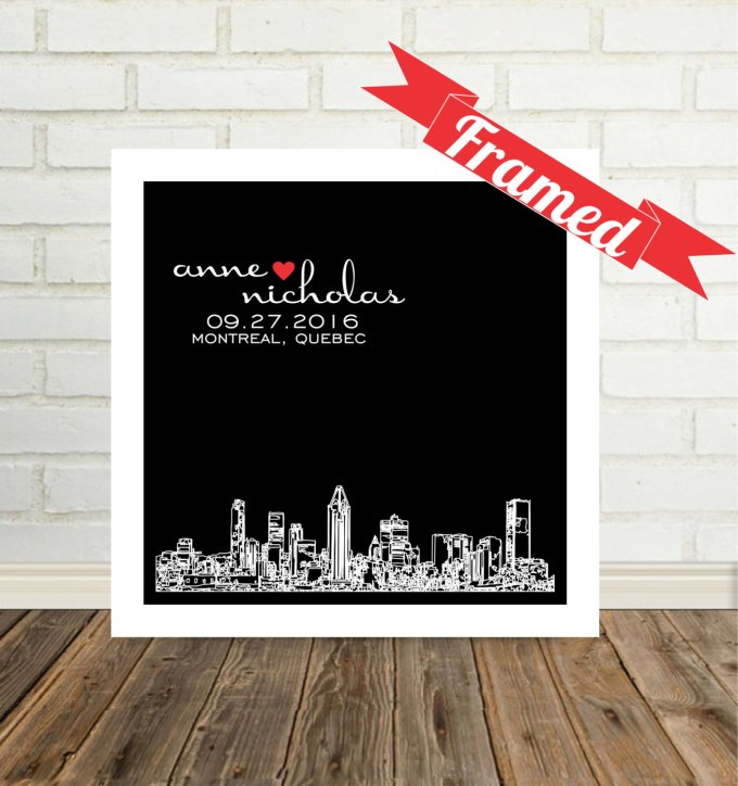 city skyline wall art montreal quebec