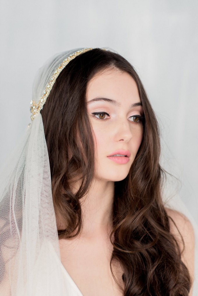 Wedding hair down with veil ask emmaline emmaline bride another example is this lace juliet cap veil with a flower as you can see the bride is wearing her hair down in beautiful curls junglespirit