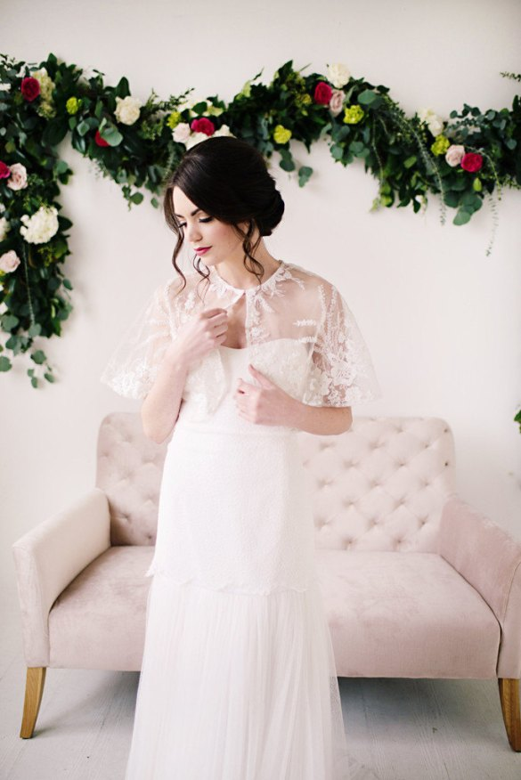 bridal capelets by tessa kim