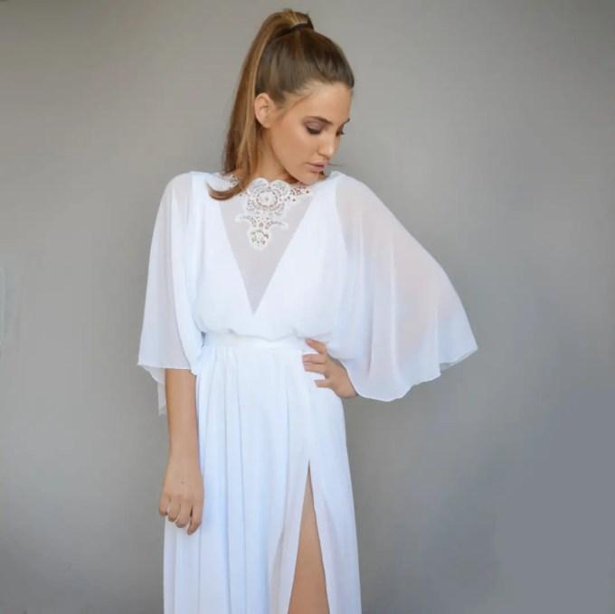 bohemian wedding dresses - by barzelai