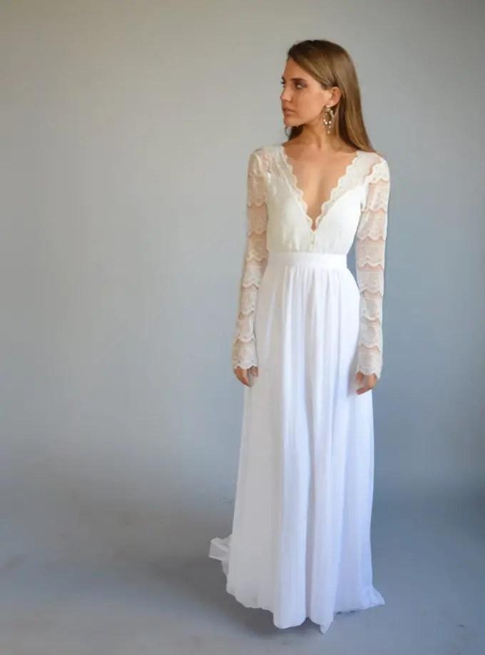 Long Bohemian Wedding Dresses