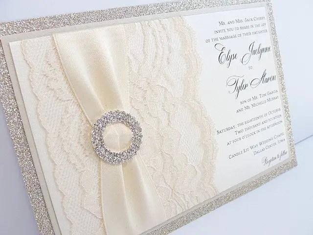 These Jeweled Wedding Invitations Make a Statement Emmaline Bride