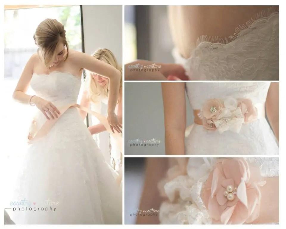 blush bridal sash