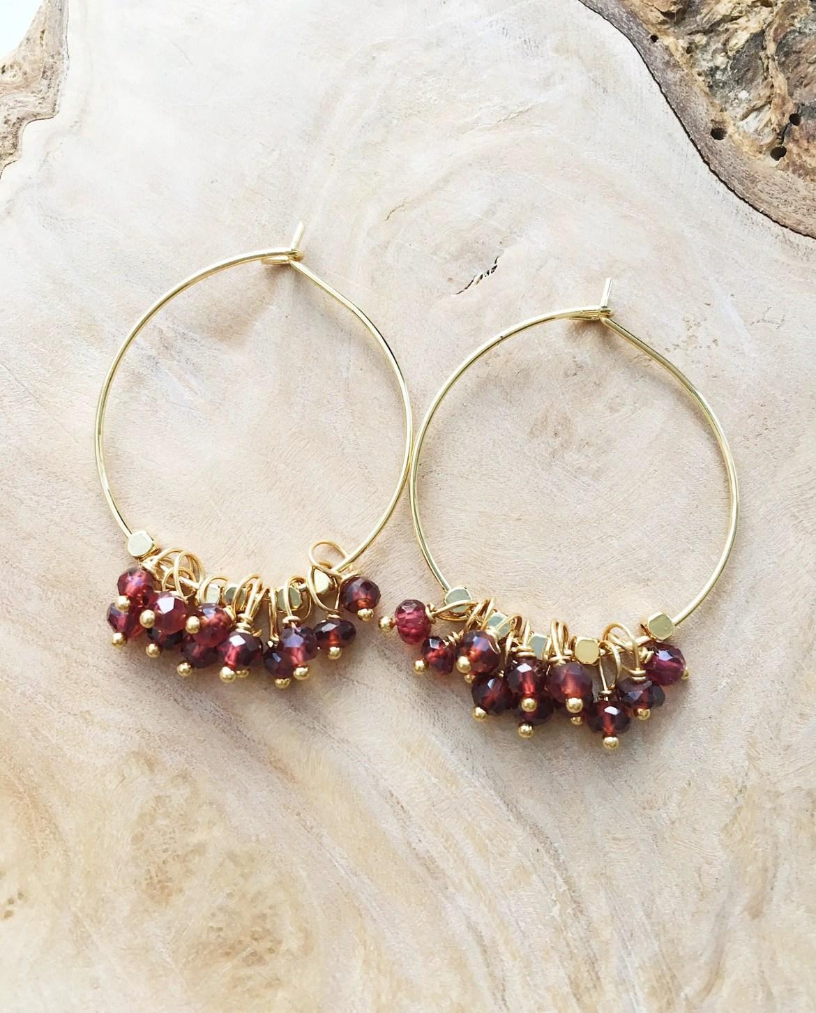 garnet jewelry etsy seller laura stark via http://etsy.me/2mKmIP1