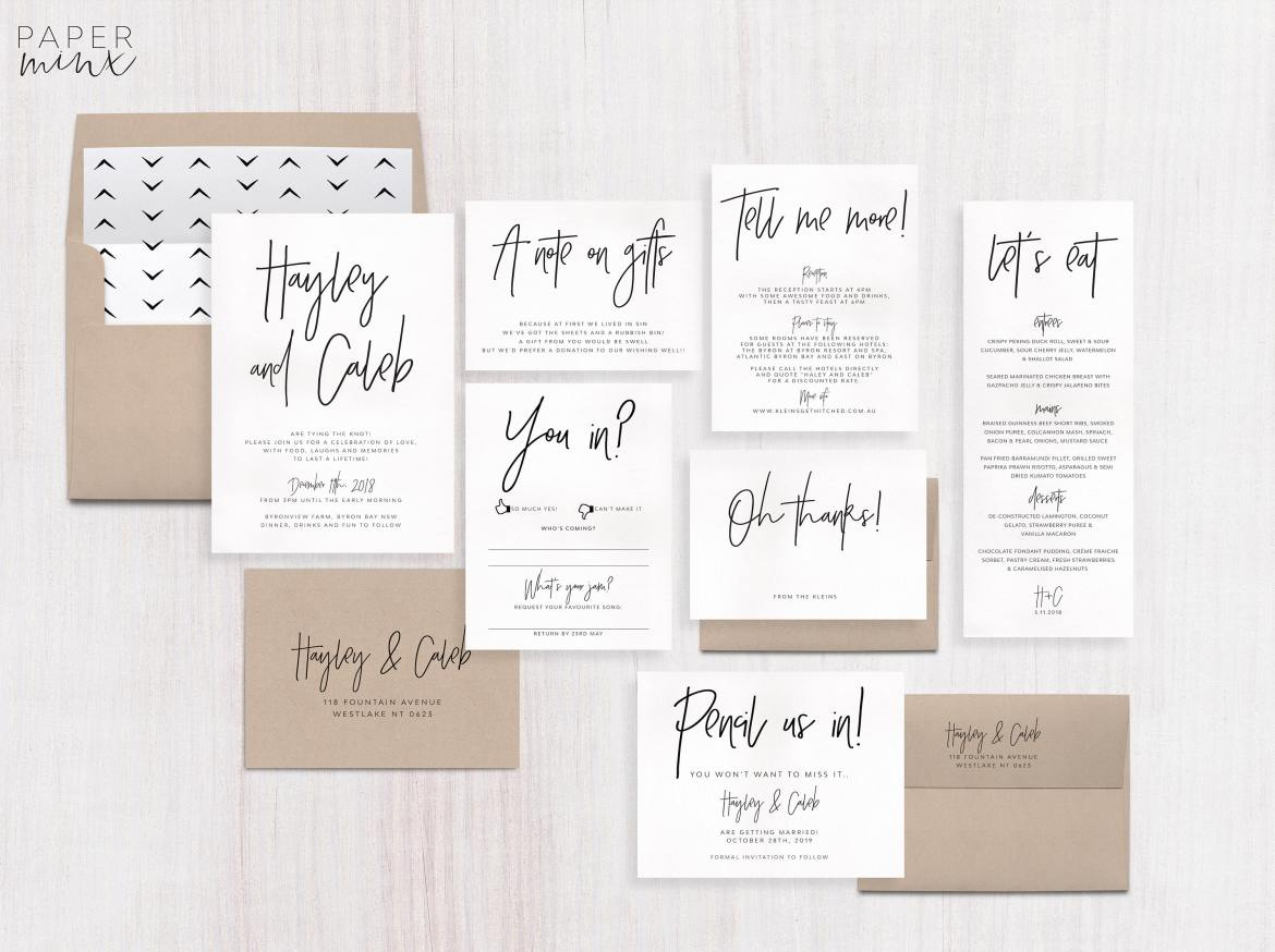 75 Fun + Unique Wedding Invitations for Cool Couples | Emmaline Bride®
