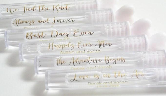 Personalized Labels Wedding Bubbles