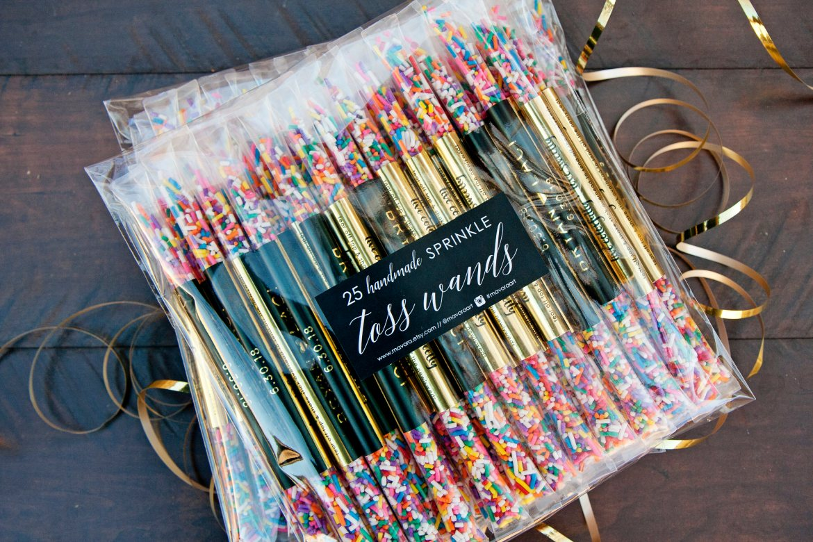 wedding confetti rainbow sprinkles tubes by mavora
