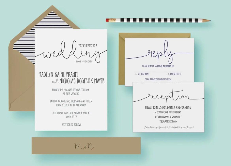 12 Simple Wedding Invitations (+ Inexpensive, Too!) | Emmaline Bride®