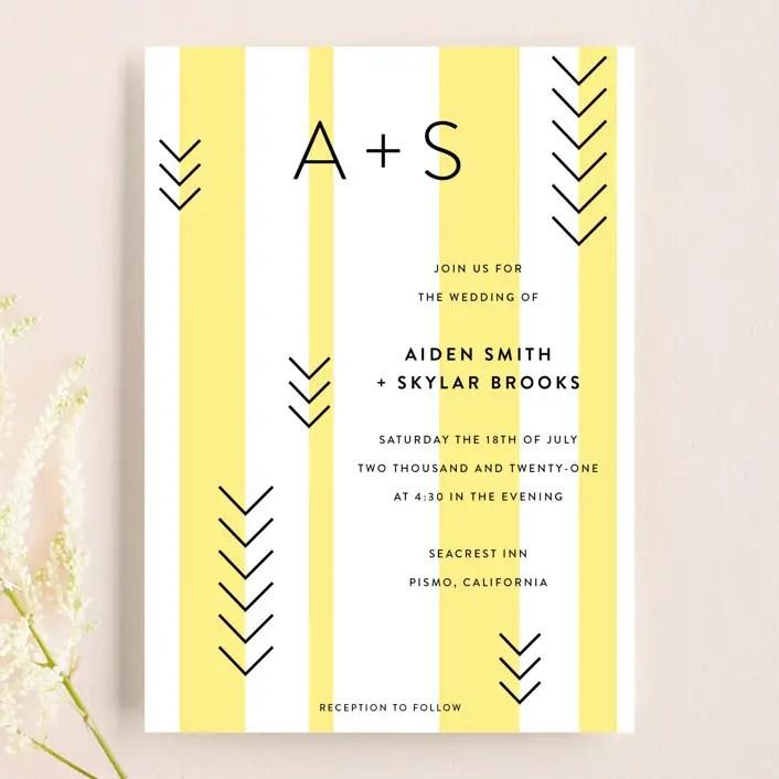 simple wedding invitations ideas