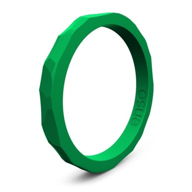 hammered silicone ring jade