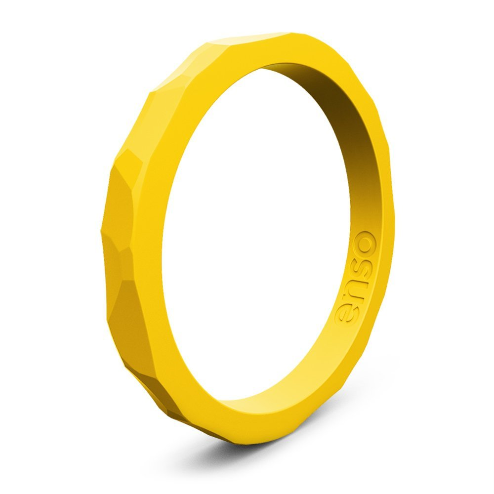 hammered silicone rings goldenrod