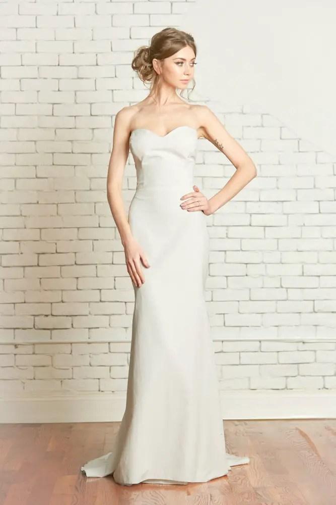 sleek strapless mermaid fishtail wedding dress