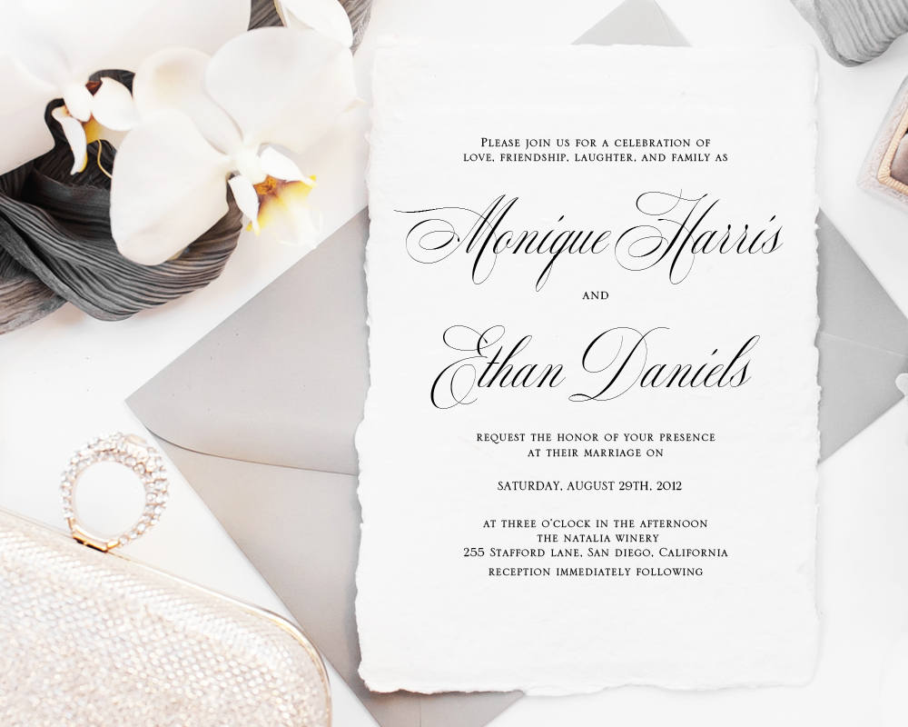 table place cards and matching invitations - Table Place Cards