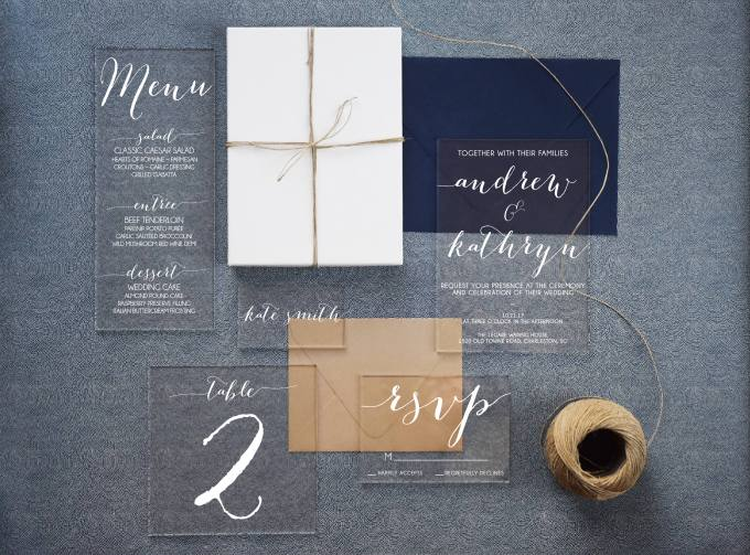 Acrylic Wedding Invitations What You Need To Know Bridalpulse