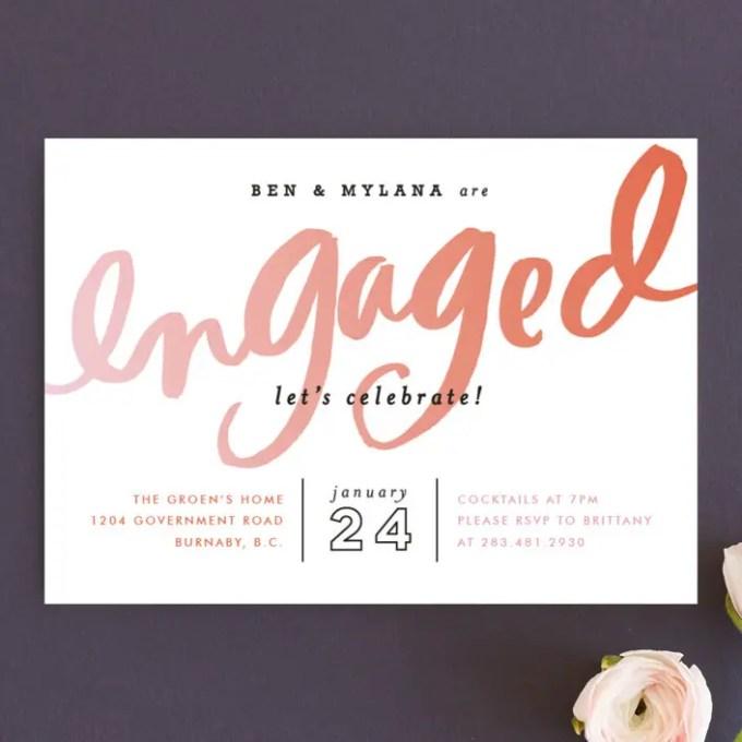 engagement invitations