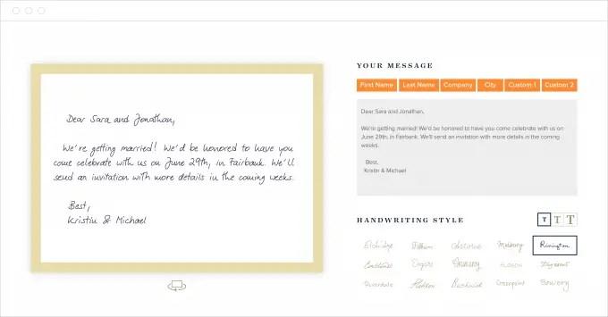 how to send handwritten thank you notes online bridalpulse