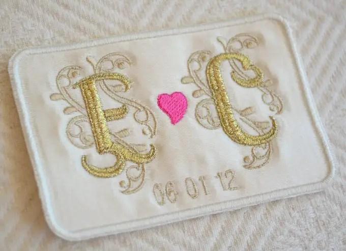 wedding dress tag