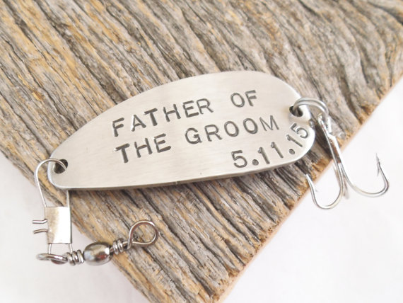 personalized fishing lure - father of the groom gift