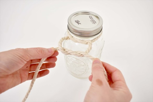 How to Make Hanging Mason Jar Vases