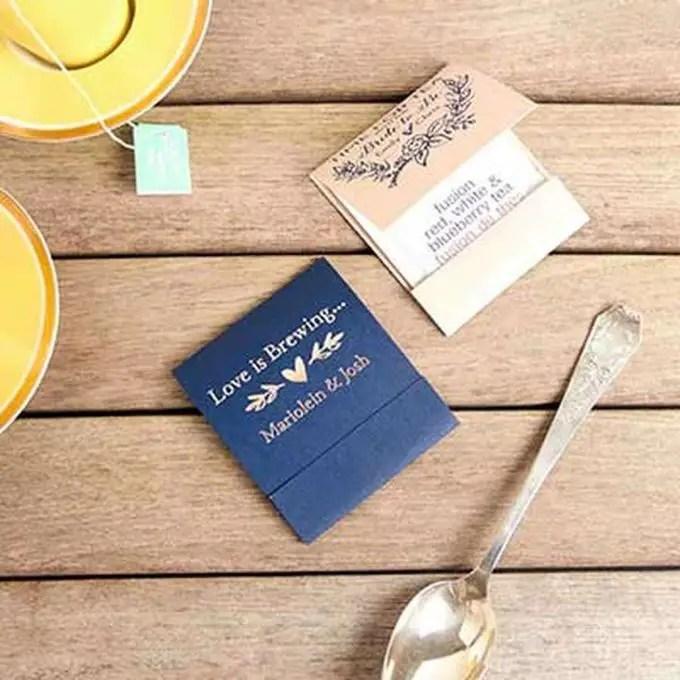 wedding favors ideas - tea favors via http://shrsl.com/153zm