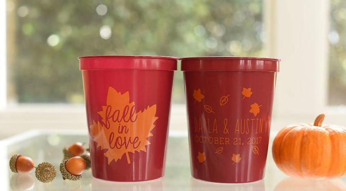 fall wedding cups