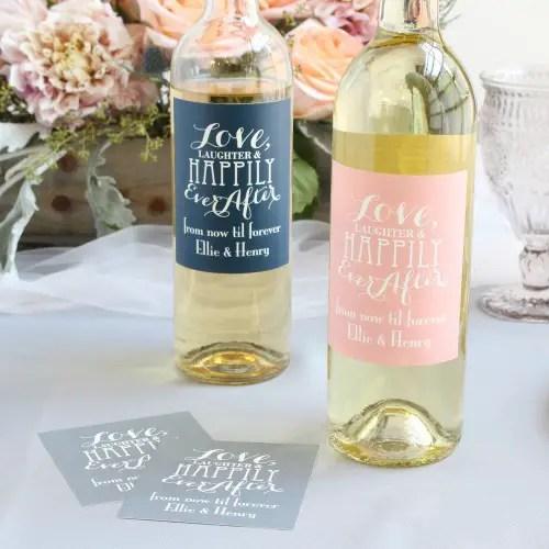 wine bottle labels - wine favors