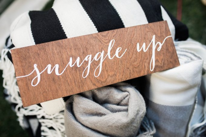 snuggle up sign
