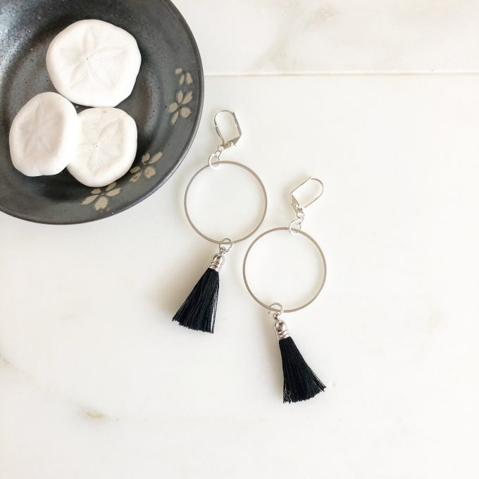 tassel earrings etsy
