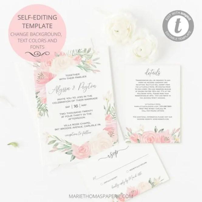 Printable Wedding Invites Edit Print Em Out Bridalpulse