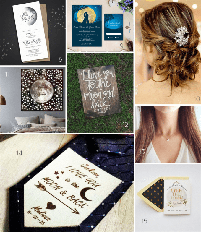 love you to the moon and back wedding theme ideas