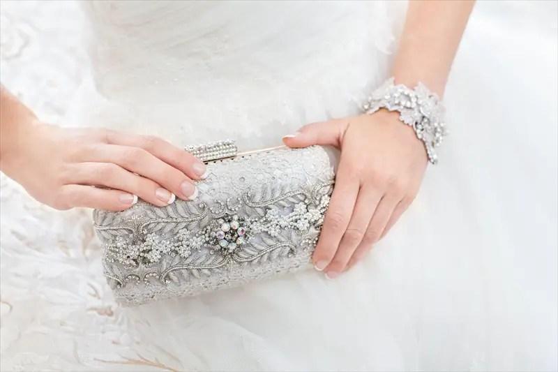Bridal Clutch Purse by Cloe Noel - Photo by La Candella Weddings - Photo 1 -