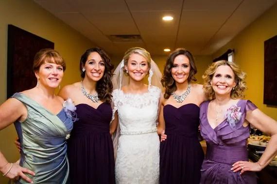 Wedding of Caitlin & Ben at The Villa - bride, mothers, bridesmaids