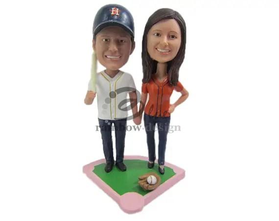 Custom Wedding Bobbleheads - baseball fans