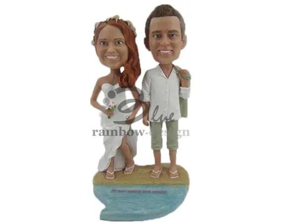 Custom Wedding Bobbleheads - beach wedding