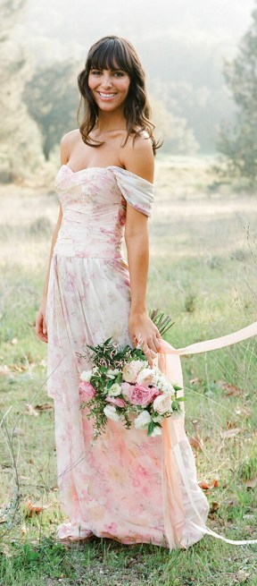 James | Floral Print Bridesmaid Dress