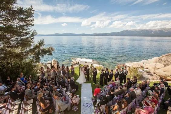 Johnstone Studios - lake tahoe wedding - ceremony overlooking lake tahoe