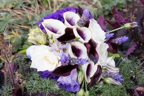 Johnstone Studios - lake tahoe wedding - purple wedding flowers